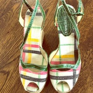 Burberry wedge shoes